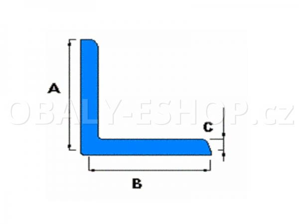 Profil pěnový PE L 75x75 délka 2 m