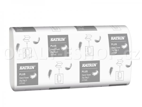 Ručník papírový Z-Z bílý Katrin Plus 65968 2 vrstvý celulóza / 150ks/balení