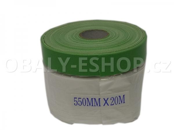 Malířská zakrývací fólie s textilní páskou  550mmx20m
