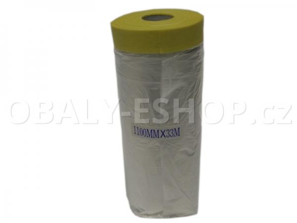 Malířská zakrývací CQ fólie s páskou 1100mmx33m