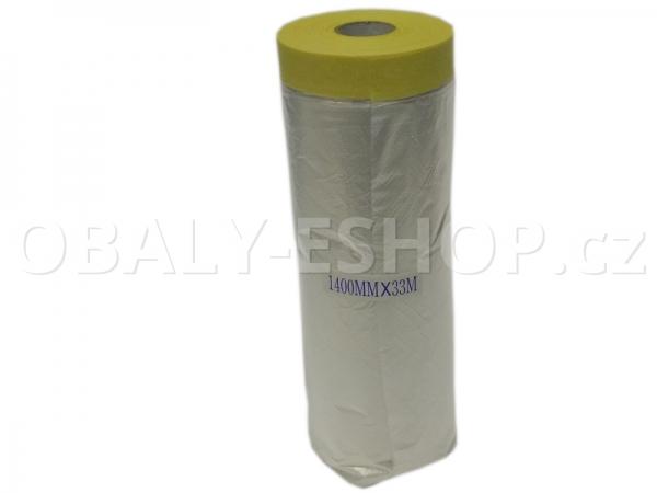Malířská zakrývací CQ fólie s páskou 1400mmx33m