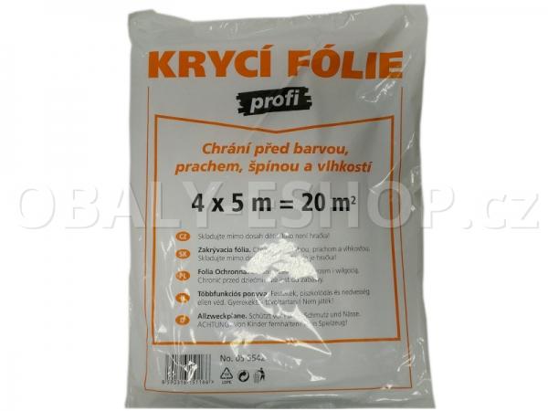 Malířská zakrývací fólie HDPE 4mx5m/12µm Profi