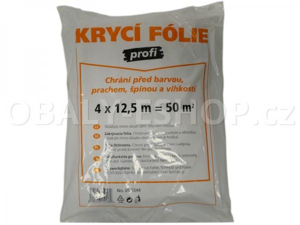 Malířská zakrývací fólie HDPE 4mx12,5m/12µm Profi