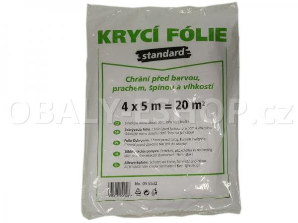 Malířská zakrývací fólie HDPE 4mx5m/6µm Standard