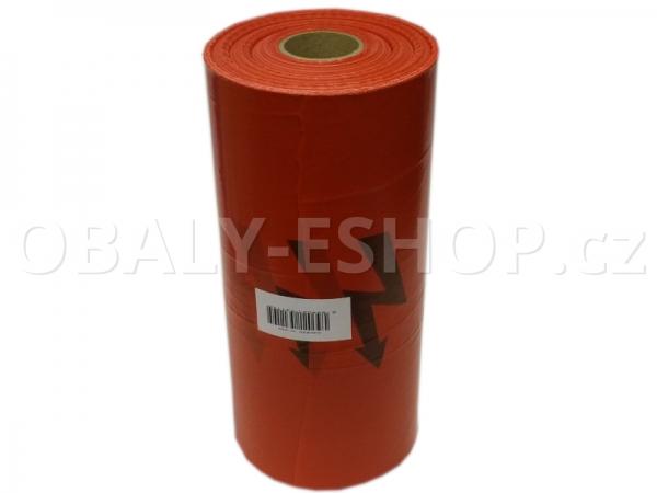 Výkopová PE fólie 30cmx250m Červená Blesk