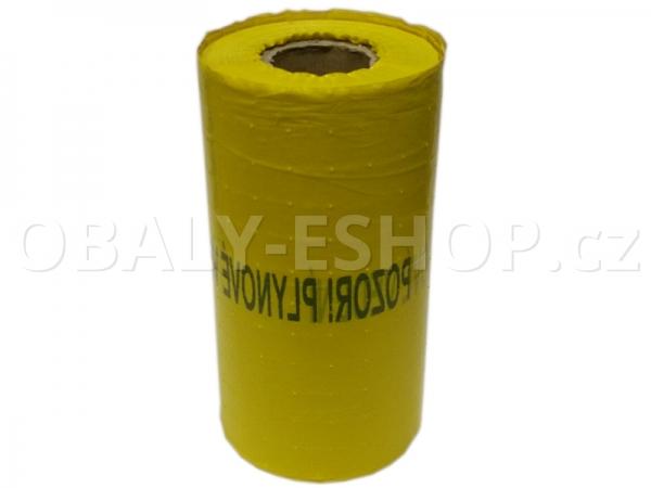 Výkopová PE fólie 30cmx250m Žlutá Plyn