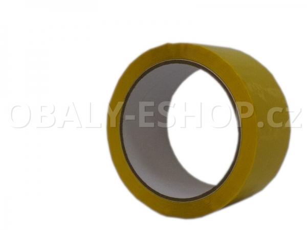 Lepicí páska LP1 48mmx66m Žlutá Akryl 40µm