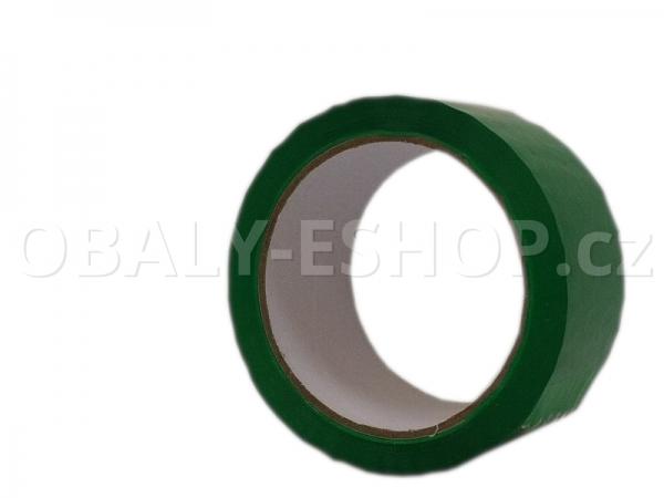 Lepicí páska LP1 48mmx66m Zelená Akryl 40µm