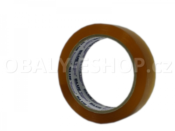 Lepicí páska LP3 25mmx66m Transp. Solvent 45µm Blue Tape