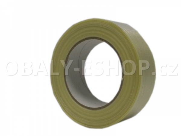 Lepicí páska zpevněná vlákny  38mmx50m Transp. filamentní 130µm