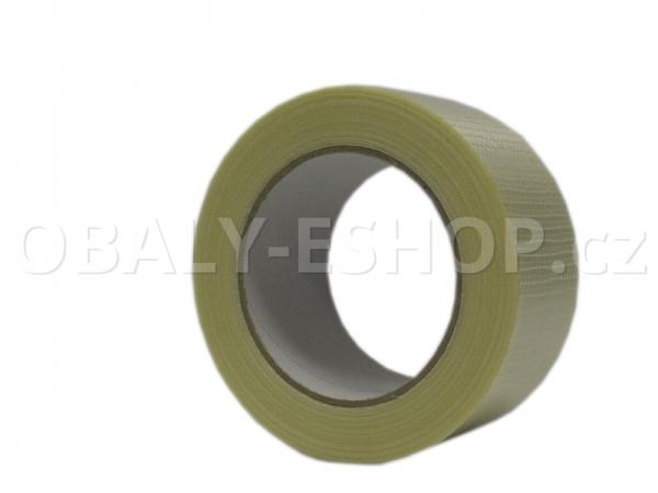 Lepicí páska zpevněná vlákny 50mmx50m  Transp. příčně filamentní 130µm