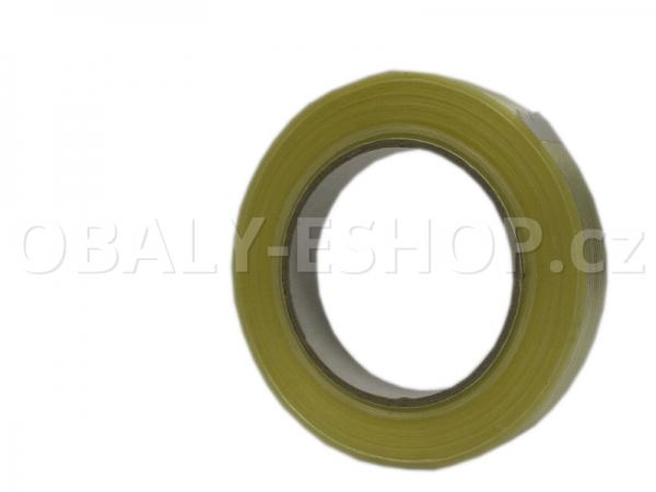 Lepicí páska zpevněná vlákny  19mmx50m Transp. filamentní 130µm