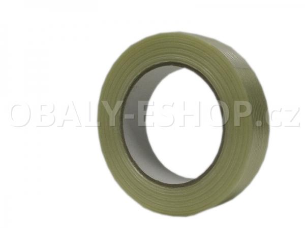 Lepicí páska zpevněná vlákny  25mmx50m Transp. filamentní 130µm