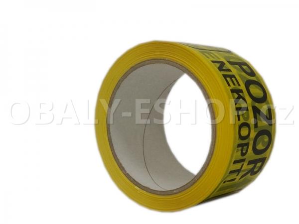 Potištěná lepicí páska PP 50mmx66m Pozor Neklopit