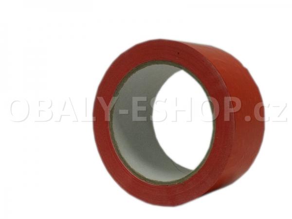 Výstražná lepicí páska PVC 50mmx66m 35µm Červená