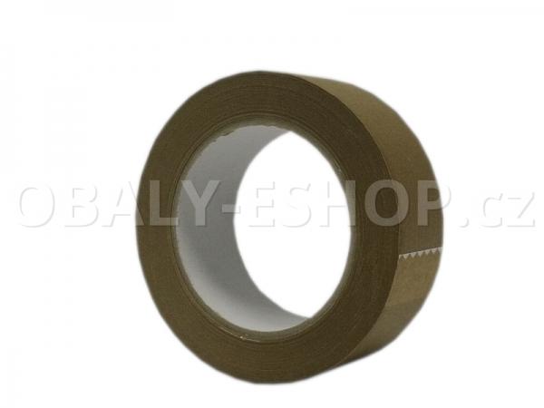 Lepicí páska papírová 38mmx50m Hnědá Ecopack 105µm