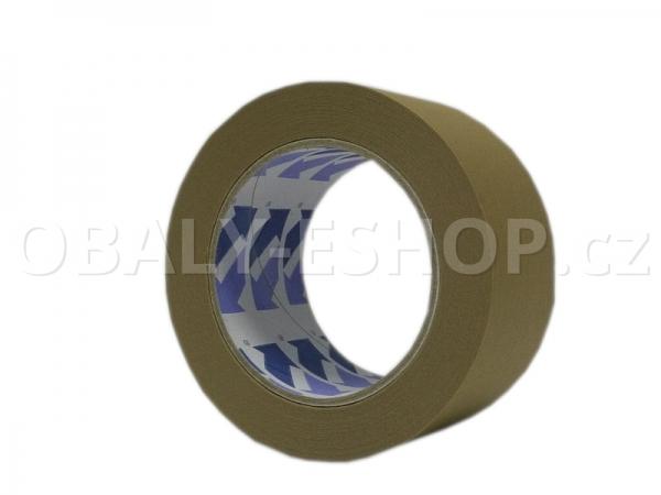 Lepicí páska papírová 50mmx50m Hnědá Ecopack 105µm