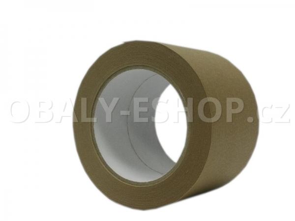 Lepicí páska papírová 75mmx50m Hnědá Ecopack 105µm