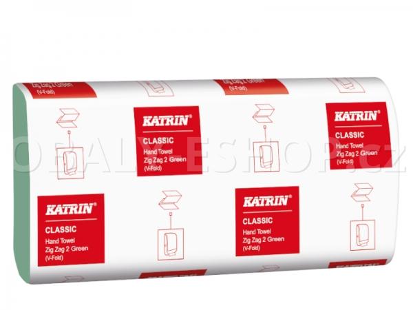 Ručník papírový Z-Z zelený Katrin Classic36190 2vrstvý /150ks/balení