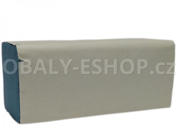 Ručník papírový Z-Z Basic 1 vrstvý modrý / 250ks/balení