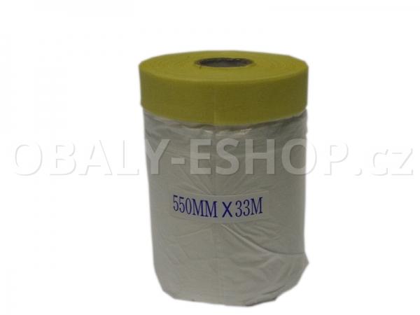 Malířská zakrývací CQ fólie s páskou  550mmx33m