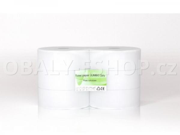 Toaletní papír Jumbo  280mmx250m 2vrstvý Celulóza