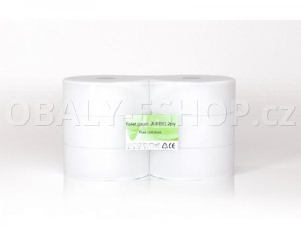 Toaletní papír Jumbo  230mmx180m 2vrstvý Celulóza