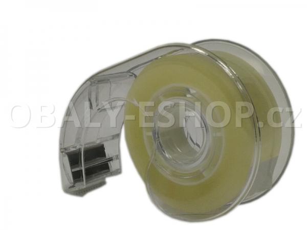 Kancelářská lepicí páska 19mmx33m s odvíječem