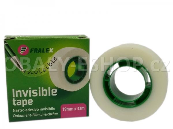Kancelářská lepicí páska 19mmx33m INVISIBLE -krabička