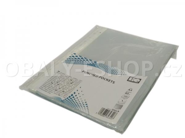 Prospektový obal A4 U polypropylénový s euroděrováním, 40µm