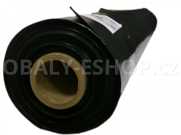 Stavební fólie LDPE  hadice 1mx50m / T100 Černá
