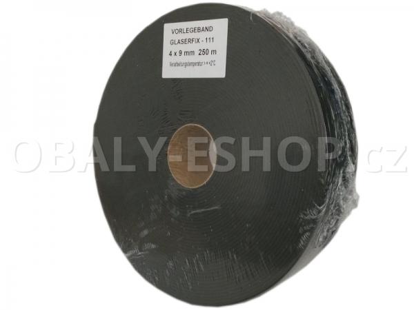 Těsnicí páska GLASERFIX111  9x4mmx25m PE Šedá