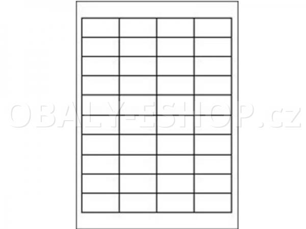 Etiketa SOREX  48,5x 25,4 mm