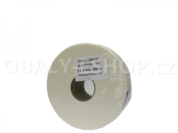 Těsnicí páska GLASERFIX111  9x2mmx25m PE Bílá