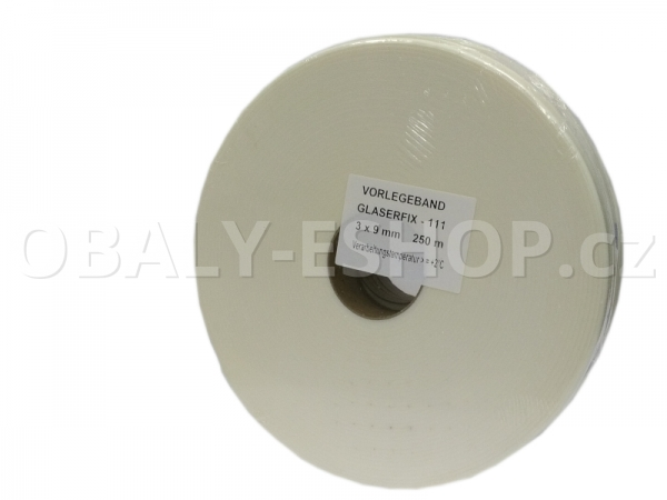 Těsnicí páska GLASERFIX111  9x3mmx25m PE Bílá