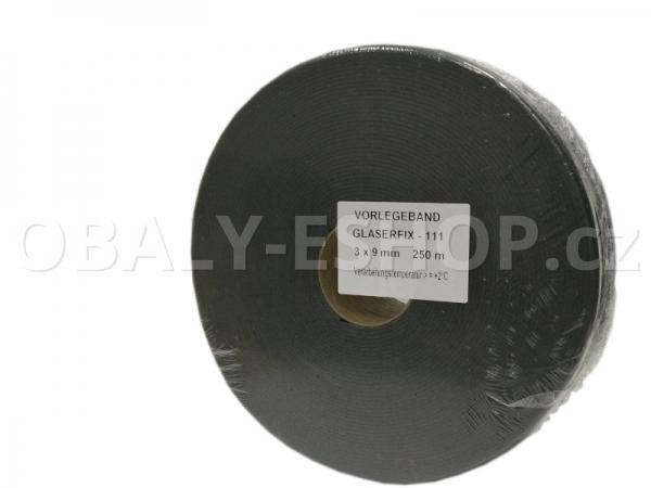 Těsnicí páska GLASERFIX111  9x3mmx25m PE Šedá