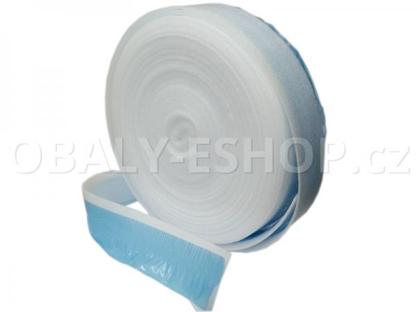 Pěnový dilatační pás PE 100mmx10mmx25m s PE fólií