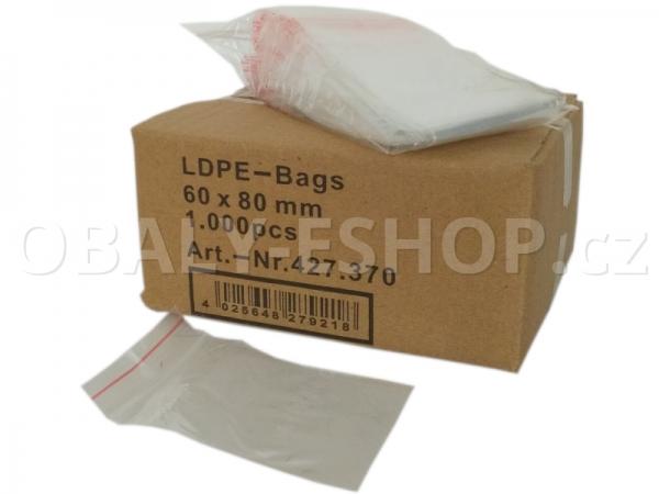 Sáček ZIP LDPE  60x80mm Rychlouzavírací 40µm