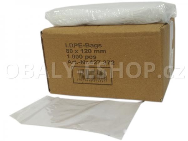 Sáček ZIP LDPE  80x120mm Rychlouzavírací 40µm