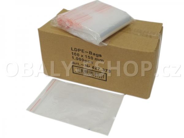 Sáček ZIP LDPE 100x150mm Rychlouzavírací 40µm