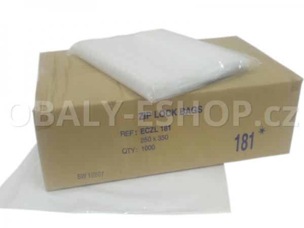 Sáček ZIP LDPE 250x350mm Rychlouzavírací 40µm
