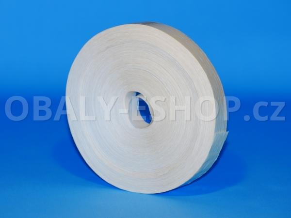 Dýhovací papírová páska 15mmx200m Bílá