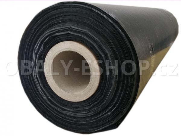 PE fólie polohadice 1000x0,06mm Recyklovaná Černá