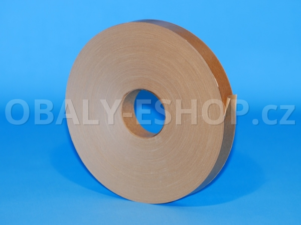 Zvlhčovací páska papírová 30mmx200m Hnědá