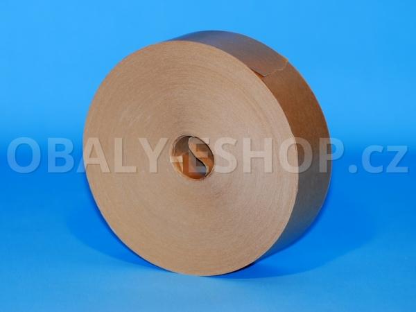 Zvlhčovací páska papírová 40mmx200m Hnědá