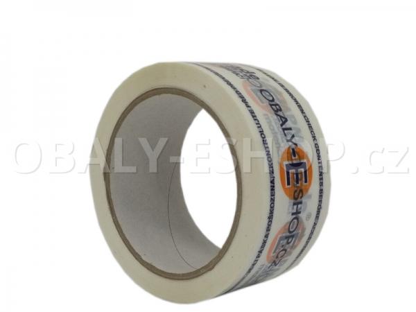 Potištěná lepicí páska PP 50mmx66m HotMelt 50µm 2 barvy