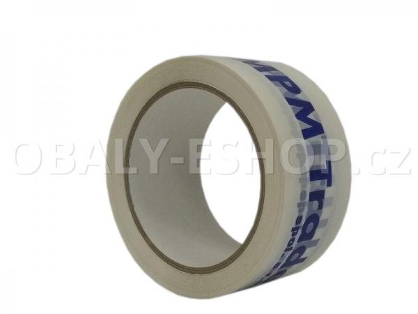 Potištěná lepicí páska PP 50mmx66m HotMelt 50µm 1 barva