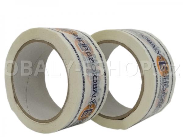 Potištěná lepicí páska PP 50mmx66m HotMelt 50µm 3 barvy