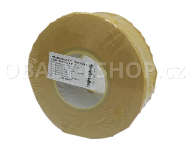 Vzduchotěsná akrylová lepicí páska PROFI PAP 60mmx40m Žlutá