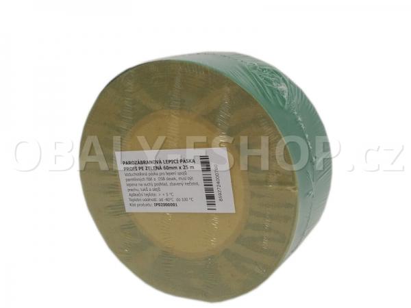 Parotěsná akrylová lepicí páska PROFI PE 60mmx25m   Zelená